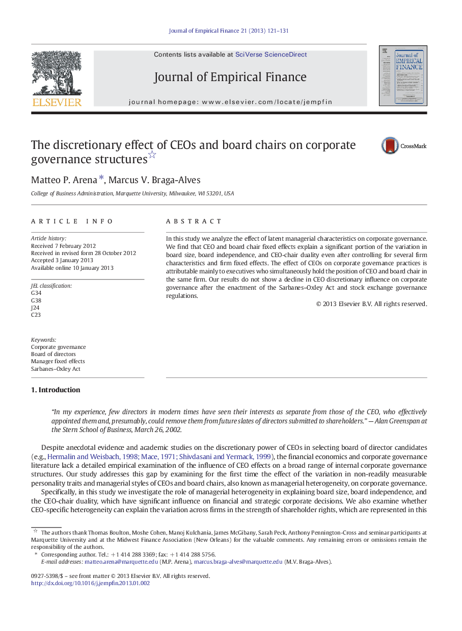 do corporate governance structures influence the Although us and european research has documented improvement in earnings quality associated with corporate governance characteristics, the situation in latin america is questionable, given.