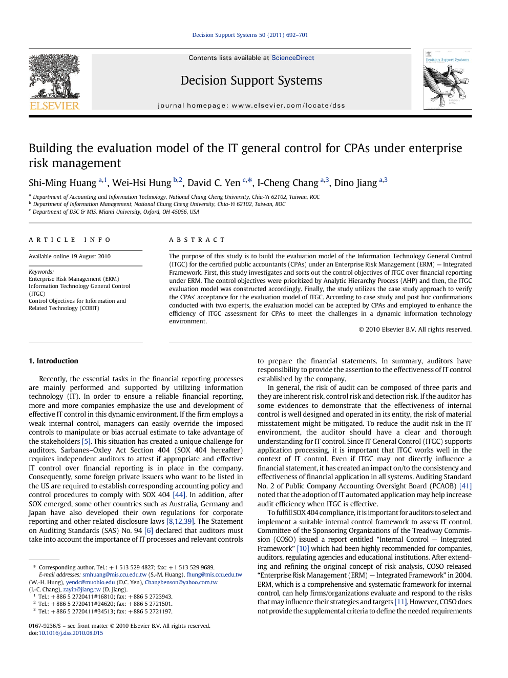 itgc case study The study utilizes the case study approach to verify the cpas' acceptance for the evaluation model of itgc according to case study.